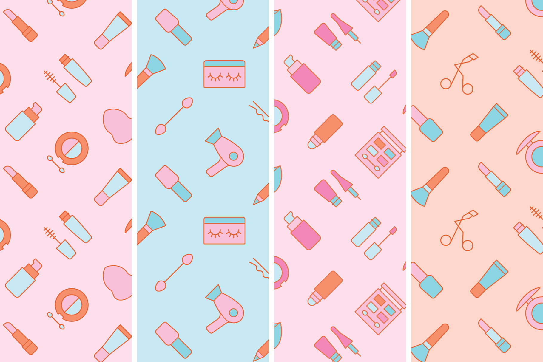 Cosmetics Seamless Patterns example image 5