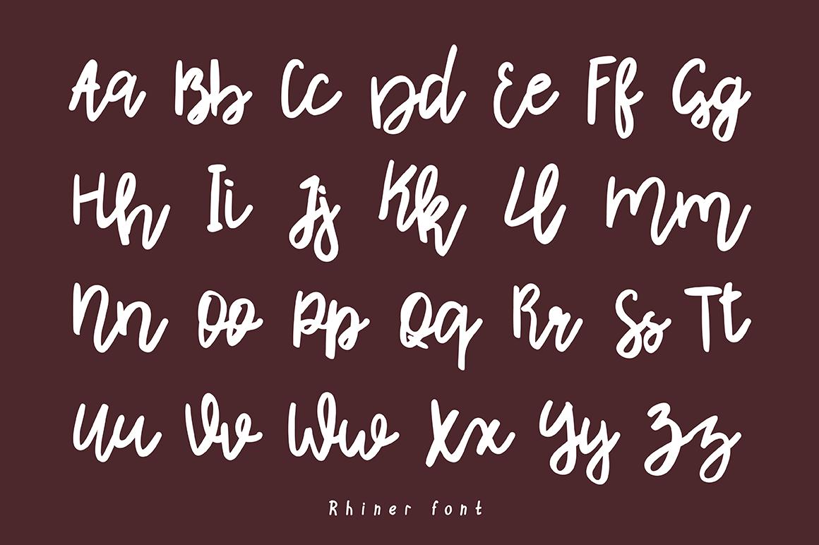 Rhiner || Latin & Cyrillic Handwritten Script Font example image 2