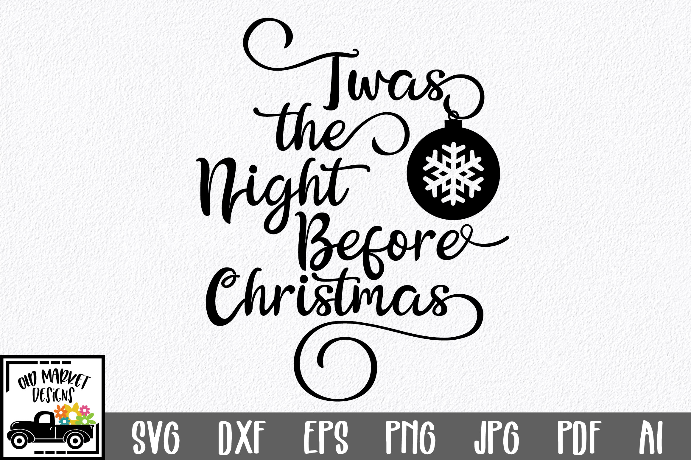 Christmas SVG Cut File - The Night Before Christmas SVG DXF example image 1