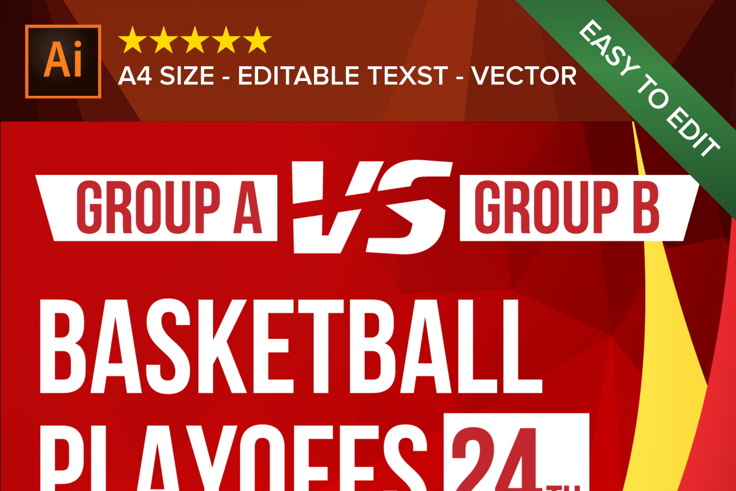 Basketball Poster Vector example image 2