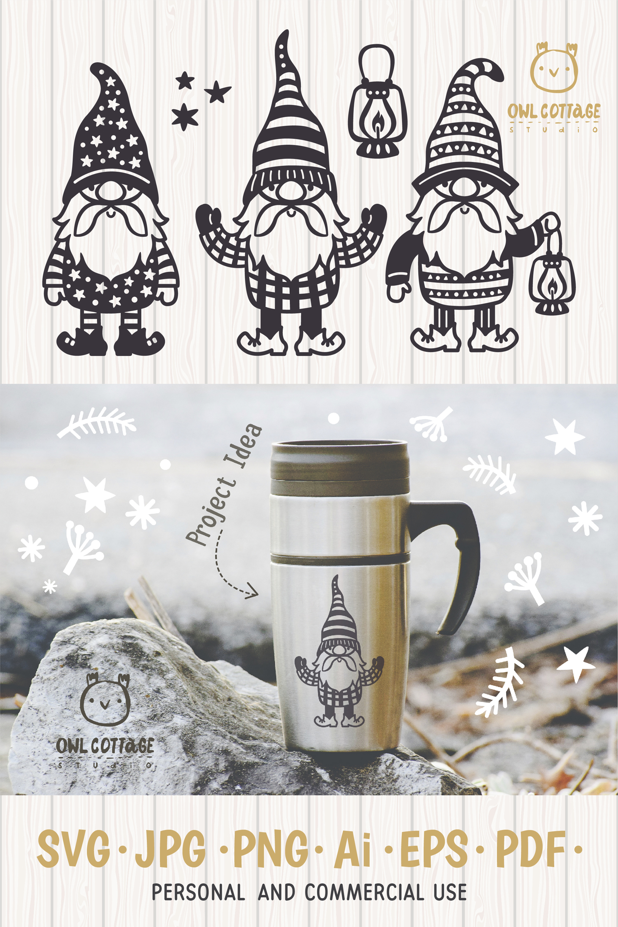 Scandinavian Gnomes SVG, Gnome Clipart, Tomte example image 14