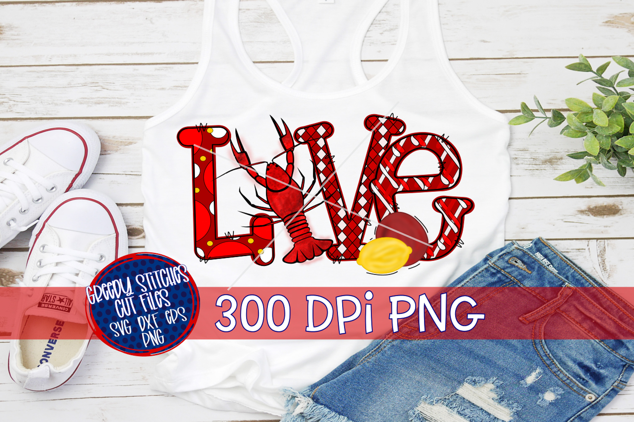 Love Crawfish PNG For Sublimation example image 1