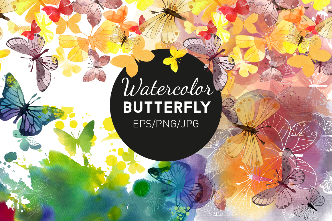 Watercolor butterfly example image 1