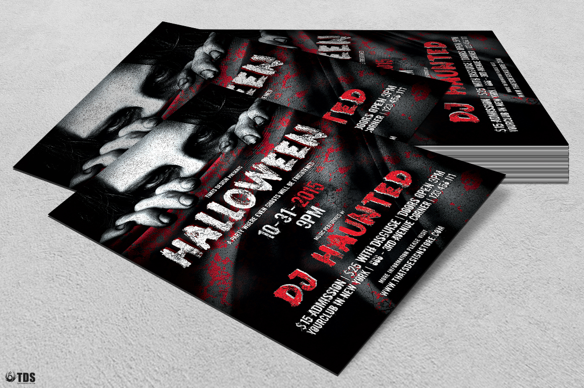 Halloween Flyer Template V5 example image 4
