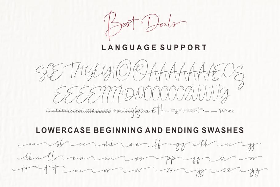 Best Deals | Signature Typeface example image 14