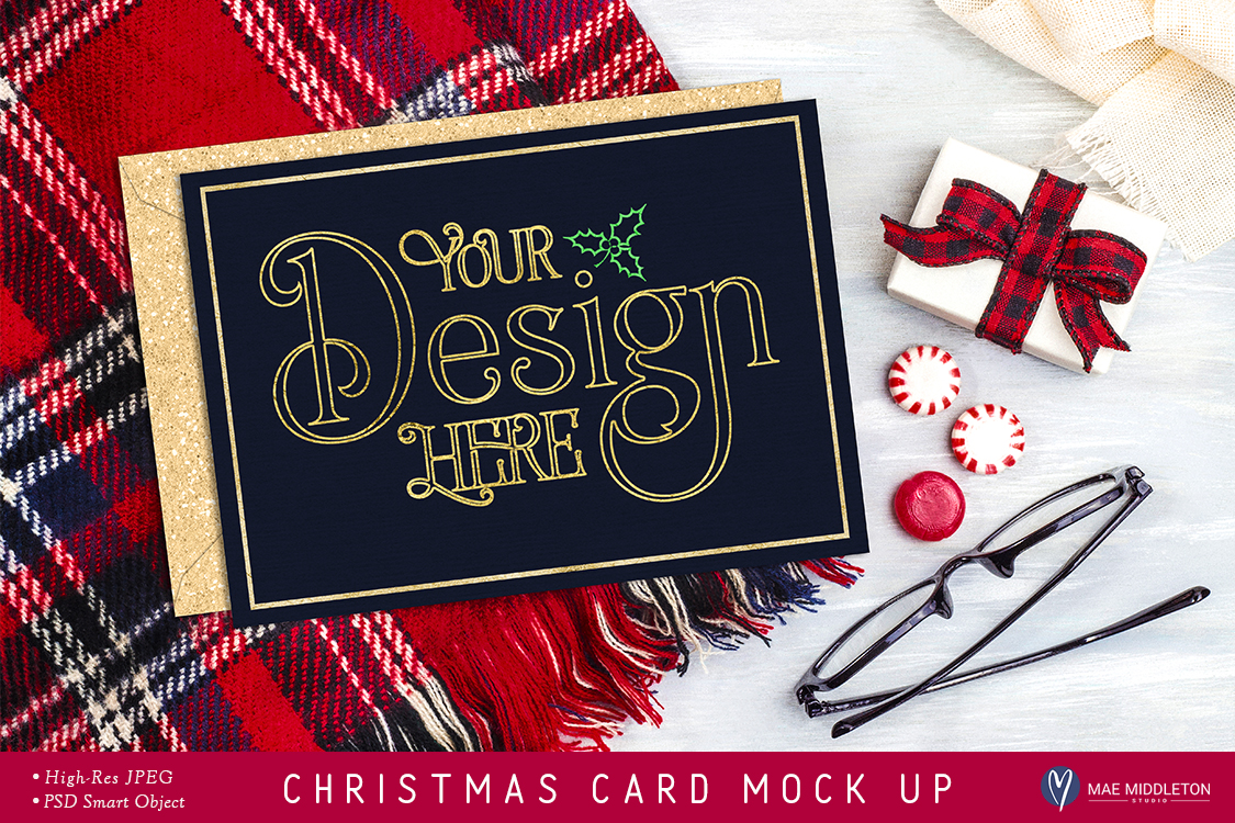 Christmas Card Mock Up example image 1