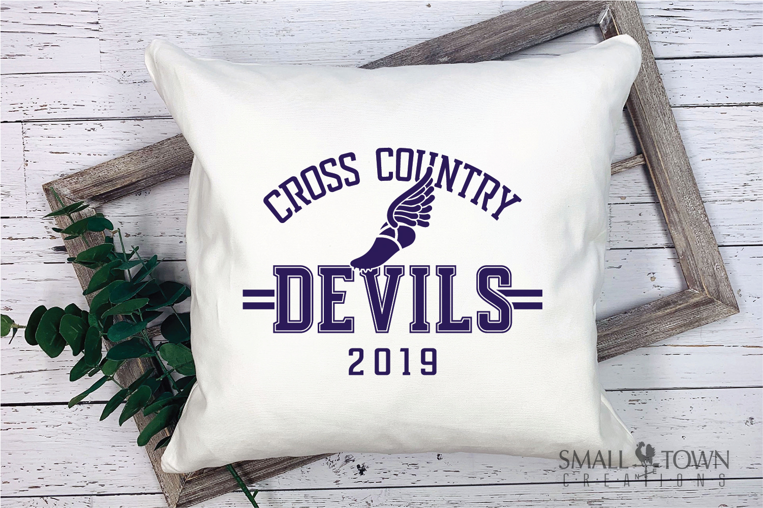 Devil Cross Country, Sports, Logo, PRINT, CUT & DESIGN example image 3
