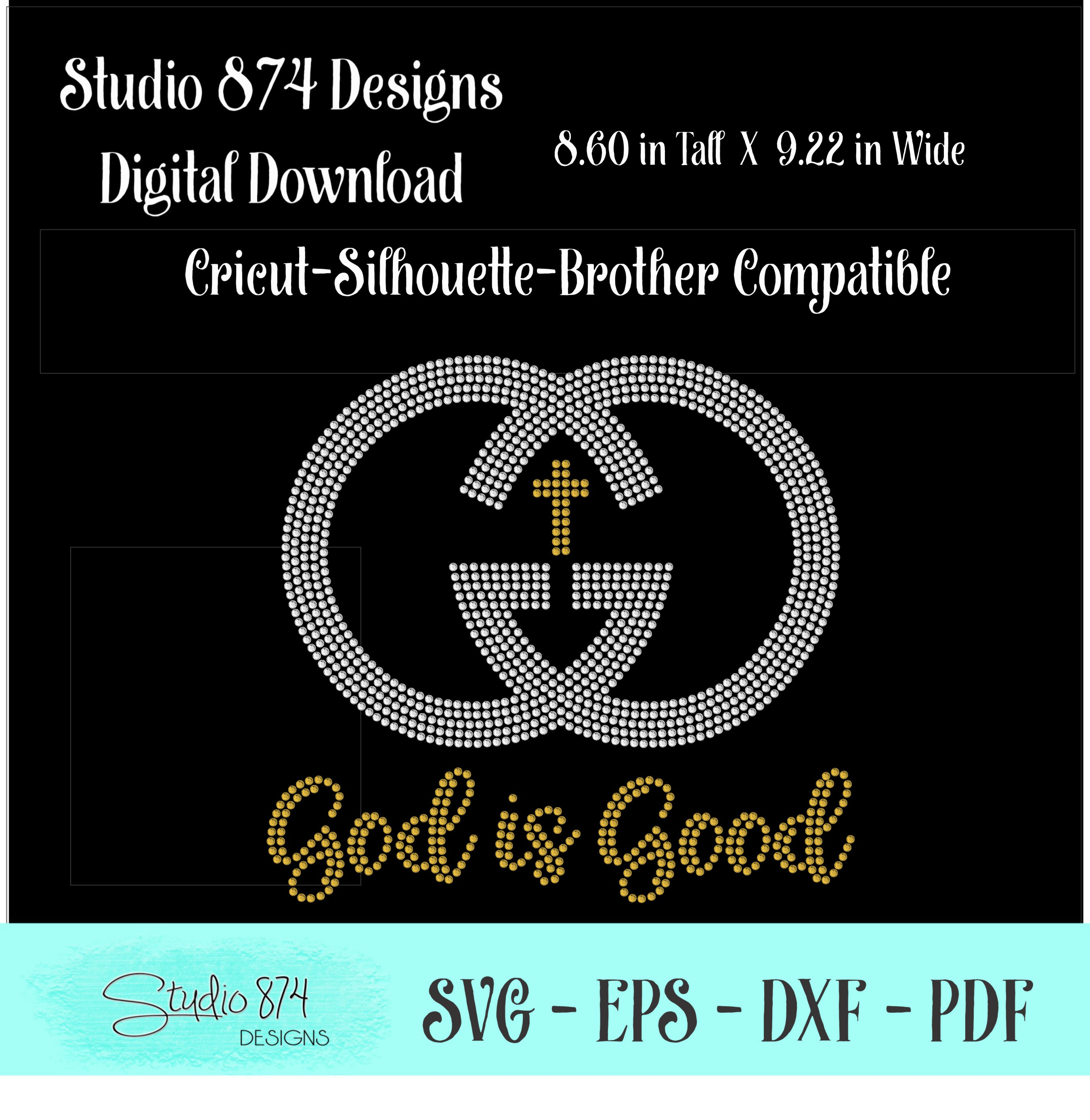 Faith Rhinestone SVG Template - God is Good example image 2