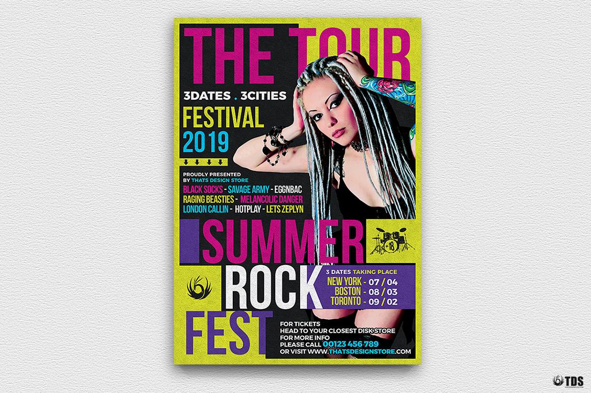 Summer Rockfest Flyer Template example image 2