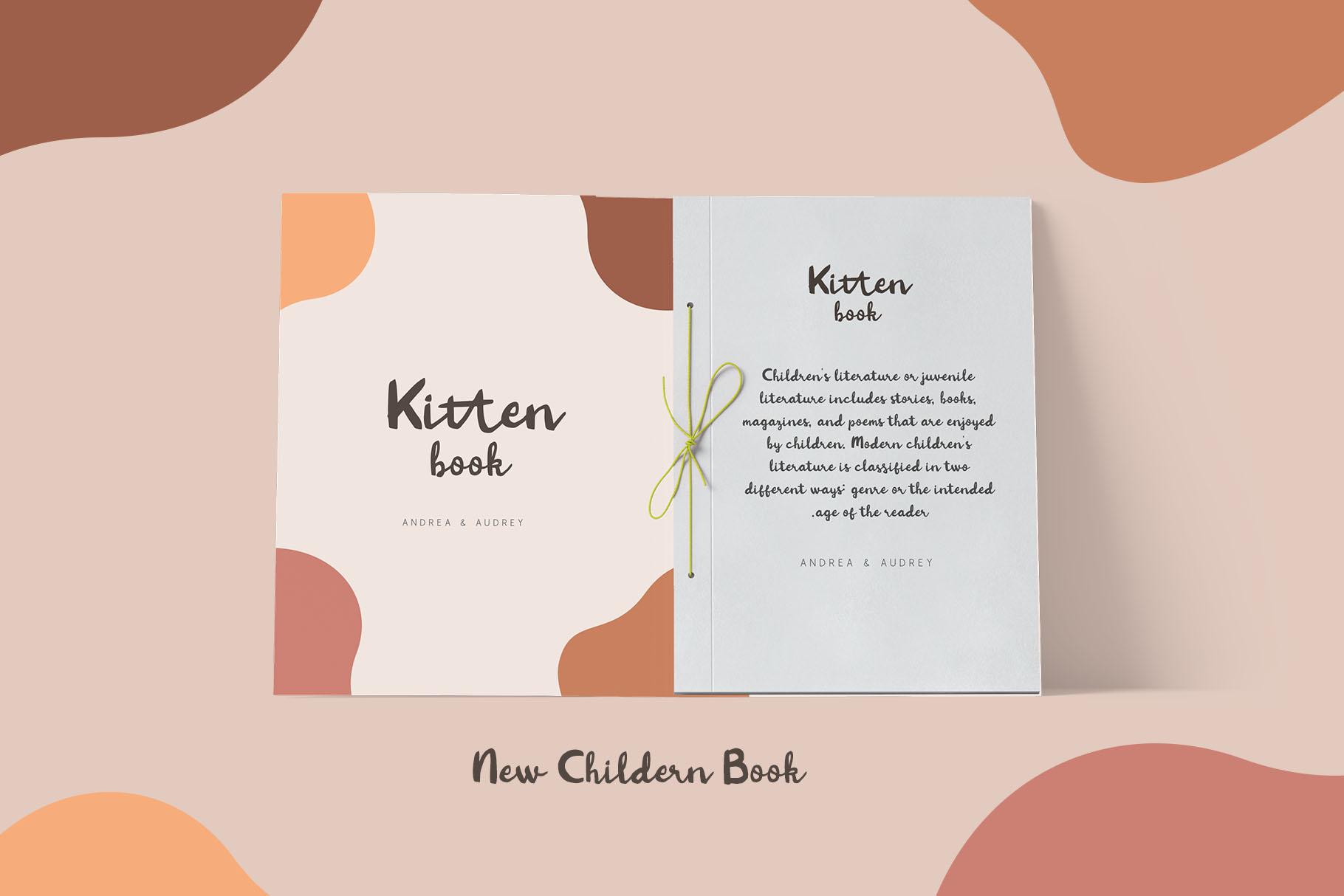 Kitten Days - Handwritten Font example image 6