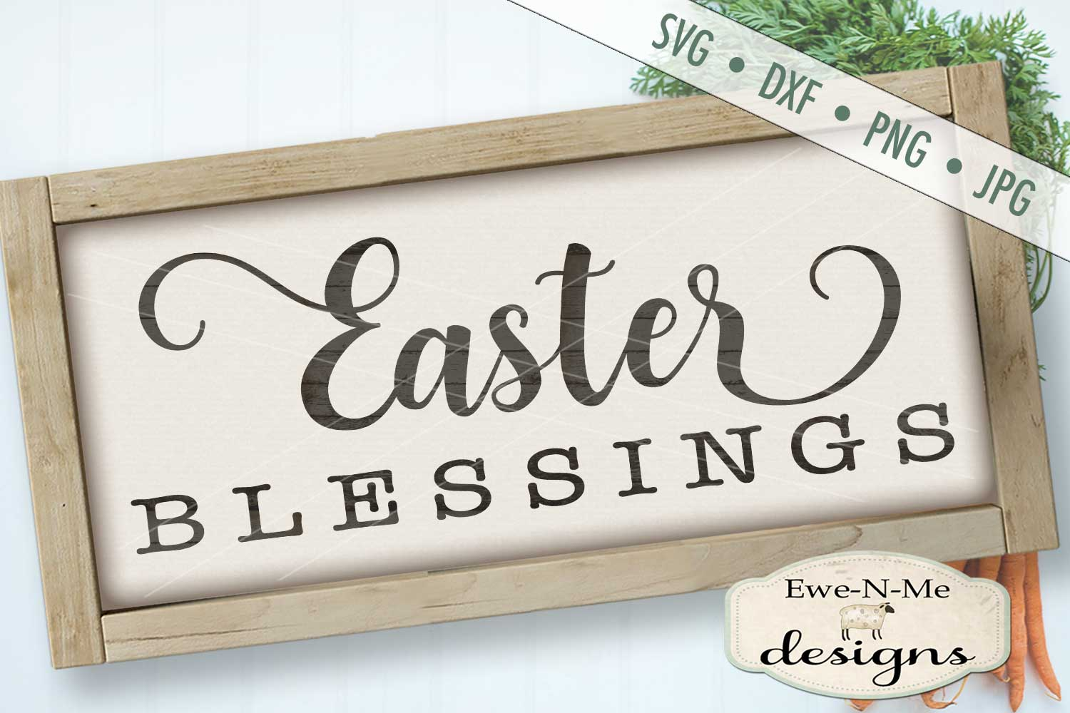Easter Blessings SVG DXF Files example image 1
