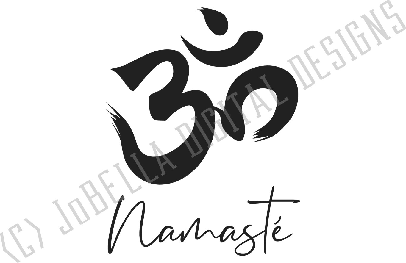 Om With Namaste SVG, Sublimation PNG & Printable Boho Design example image 3