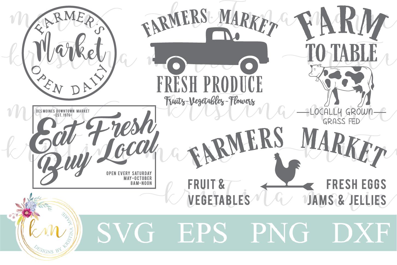 Farmers Market SVG Bundle example image 1