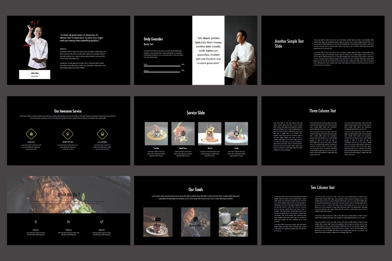 Core - Food Keynote Dark Template example image 5