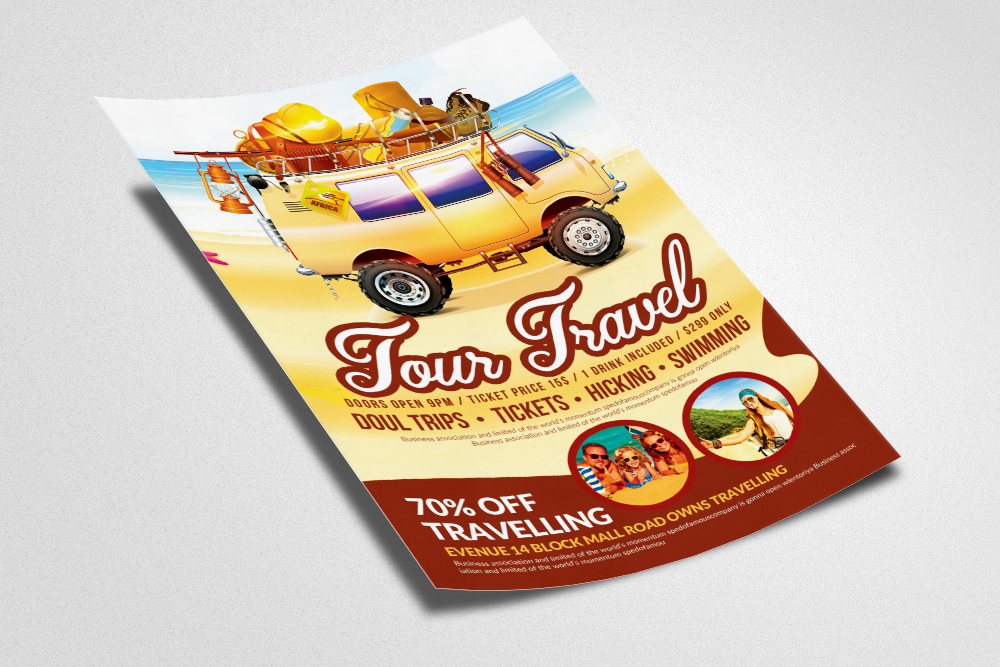 Holiday Tour/Travel Flyer  example image 2