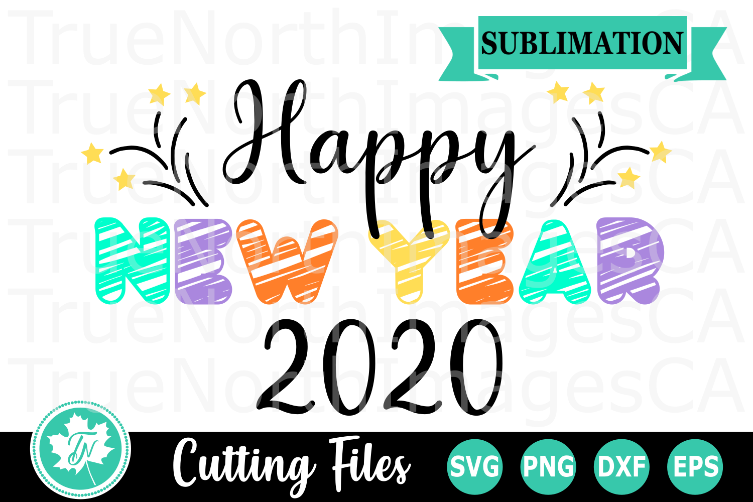 Happy New Year 2020 - A New Year's SVG Cut File example image 2