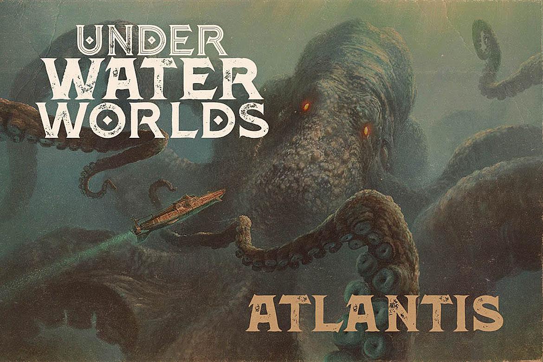 Atlantis - Vintage Style Font example image 3