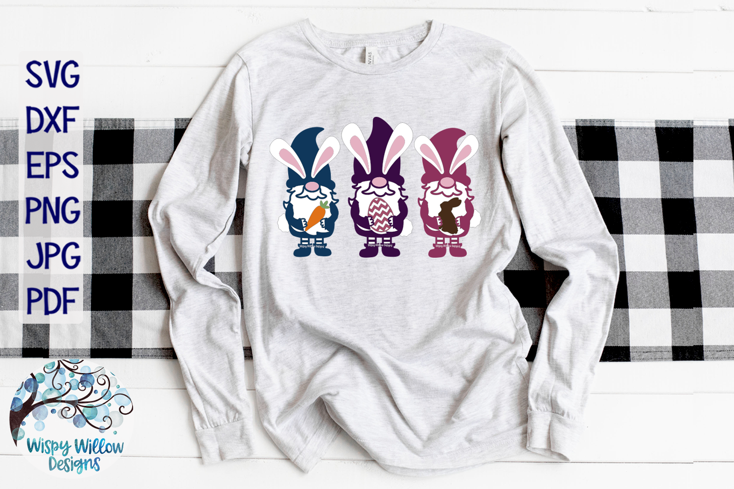 Easter Gnomes SVG | Easter Bunny Gnome SVG Cut File example image 2