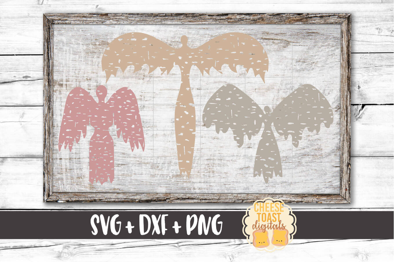 Distressed Angel Bundle - Christmas SVG Files - Remembrance example image 1