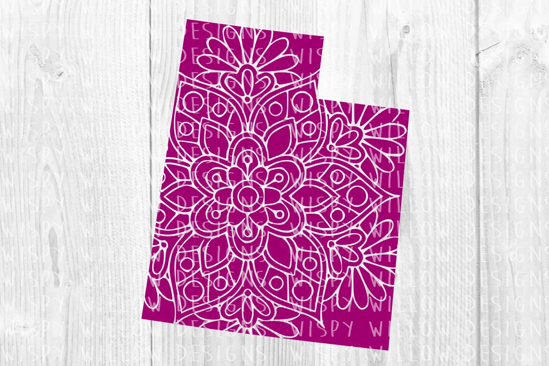 Utah State Mandala SVG Cut File example image 2