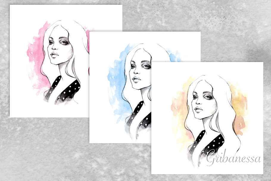 Blonde. Watercolor example image 1