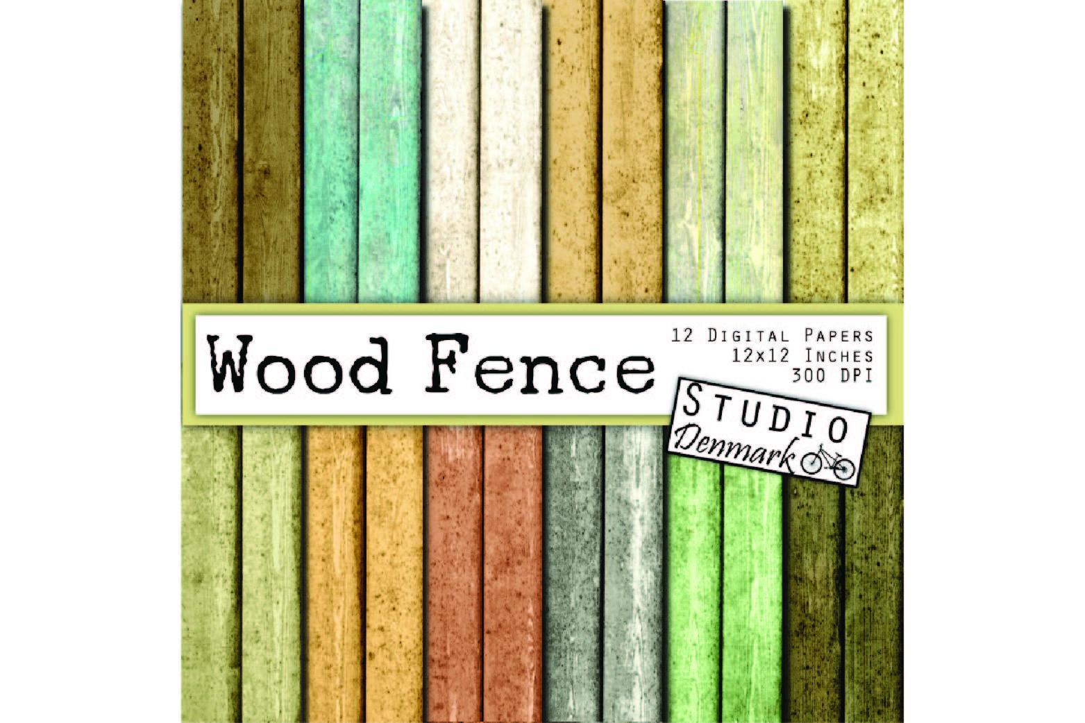 Wood Digital Paper - Distressed Wood Fence Planks example image 1