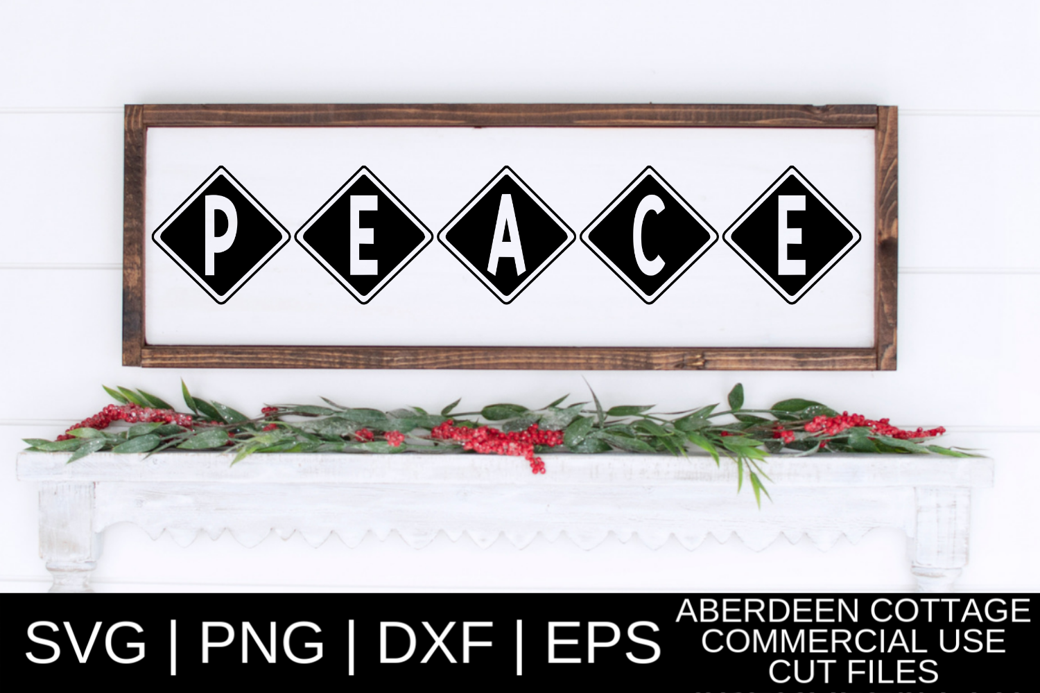 Peace Cut Out SVG| PNG | EPS | DXF example image 1