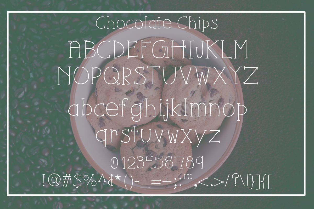 Chocolate Chips Font example image 2