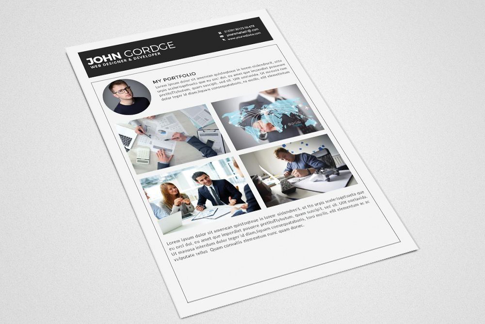 Resume Cv Office Template example image 4