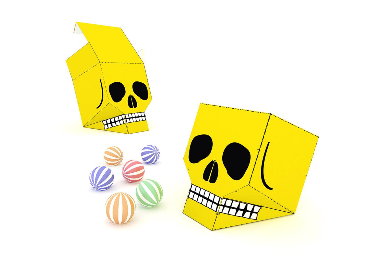 DIY Skull favor - 3d papercraft example image 2