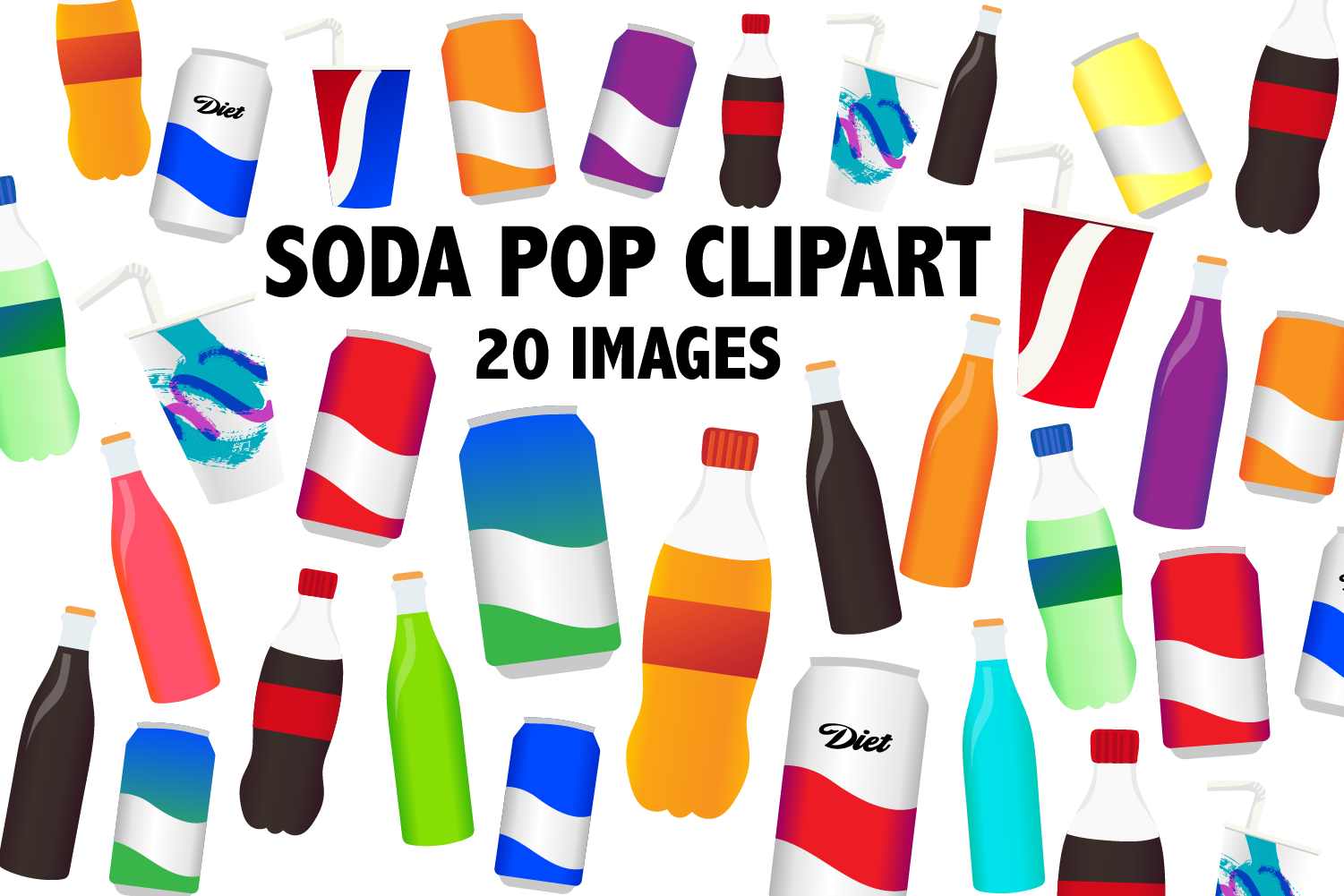 Soda Pop Clipart example image 1