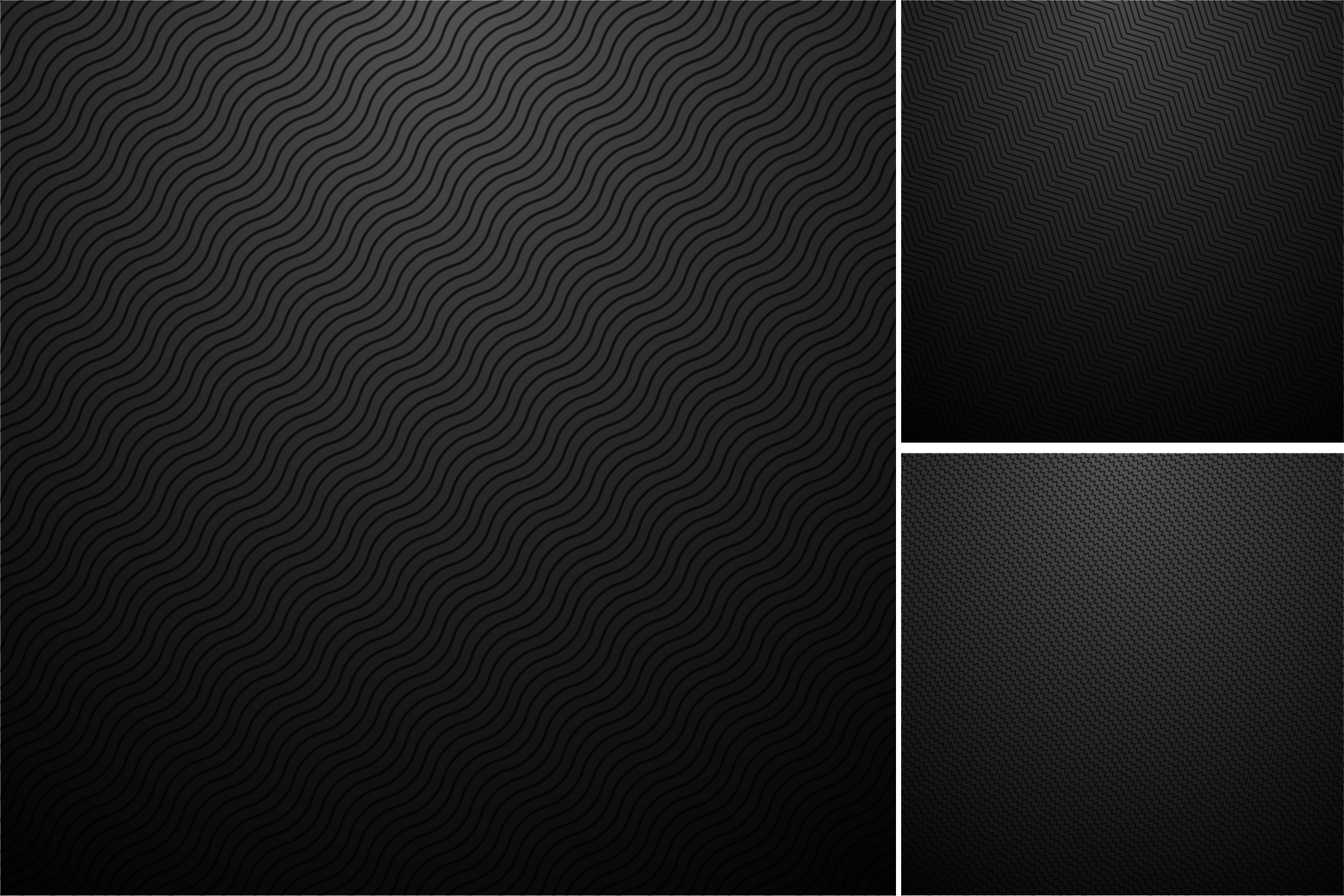 Black backgrounds. Striped textures. example image 4