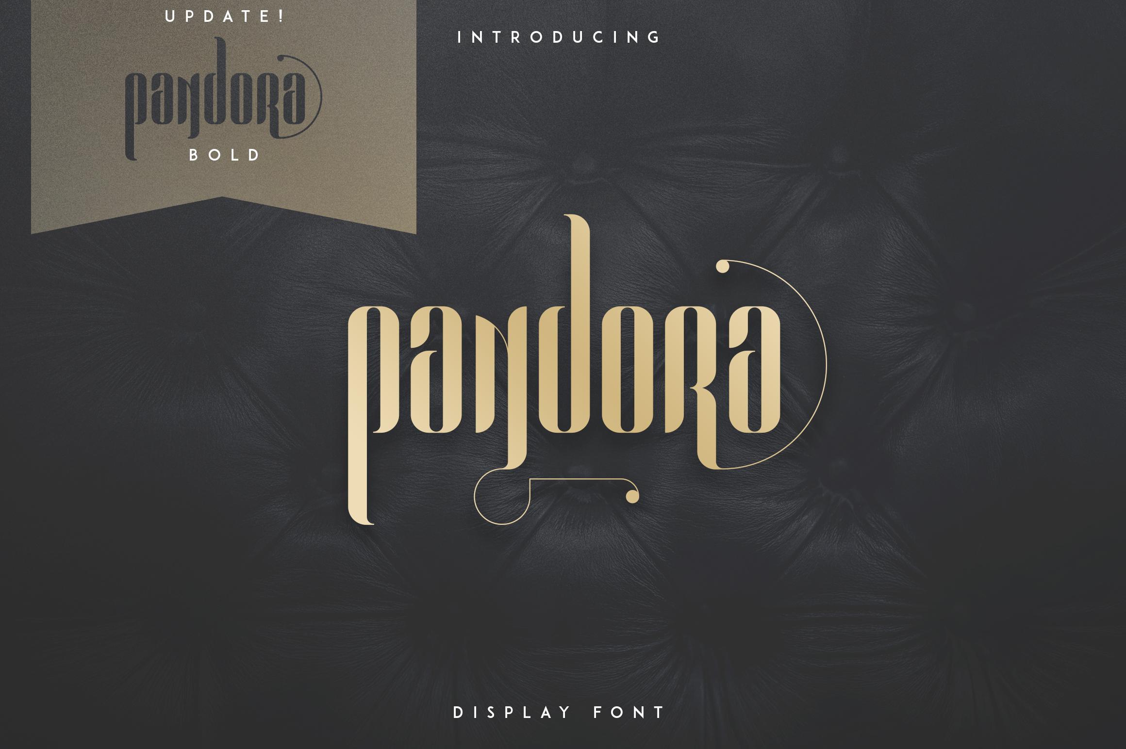 Pandora Display font example image 1