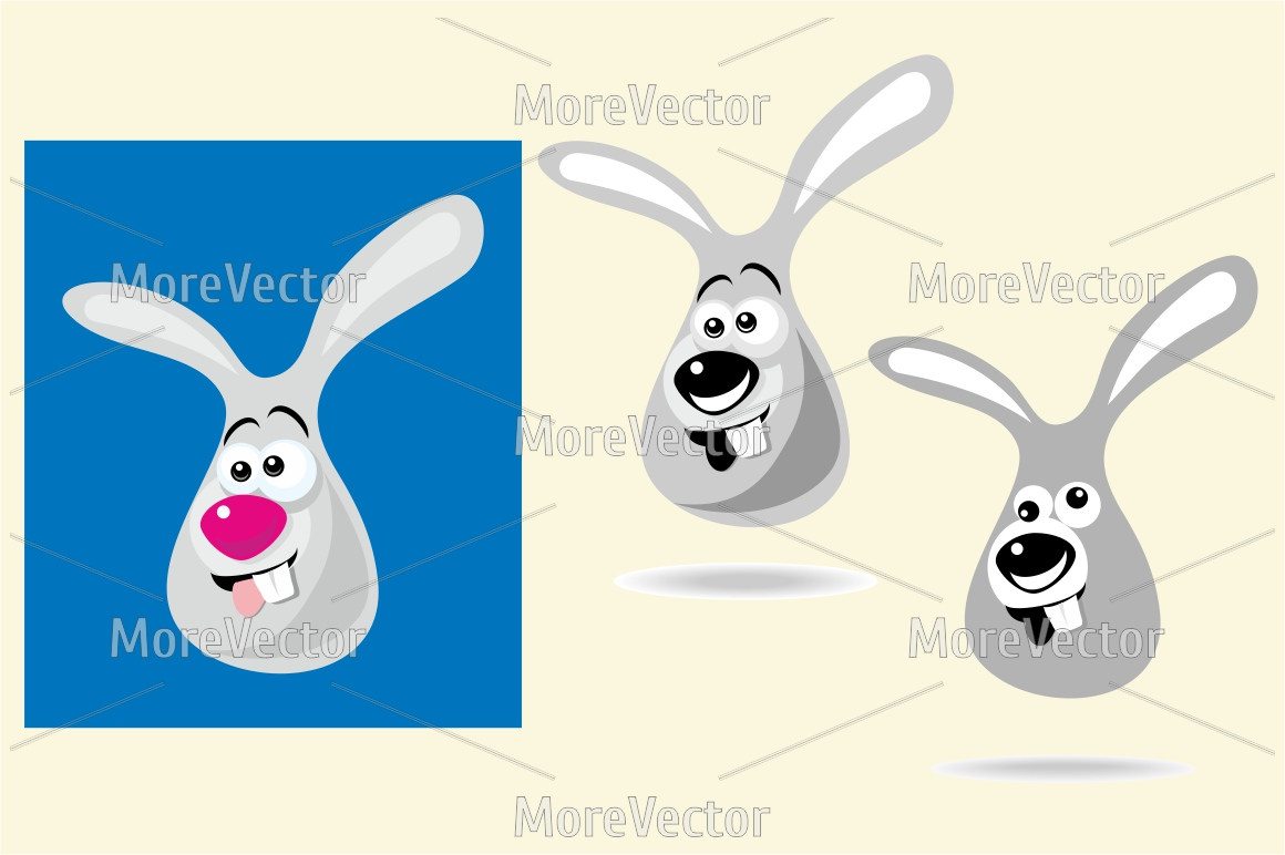 Happy bunny ears and face.  example image 1