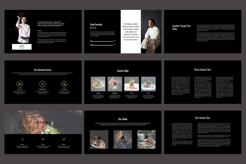 Core - Food PowerPoint Dark example image 5
