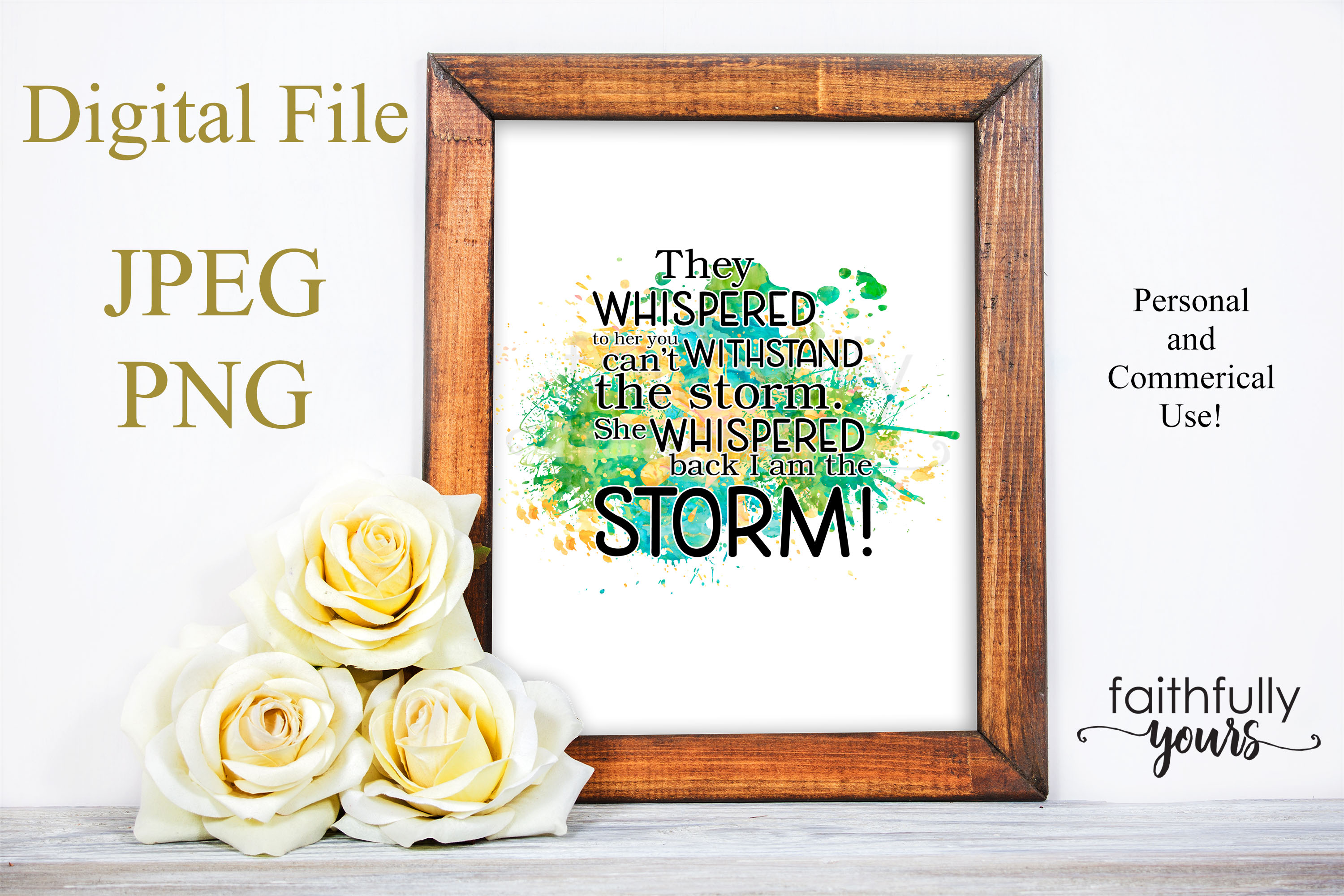 They whispered to her ! Sublimation Design example image 1