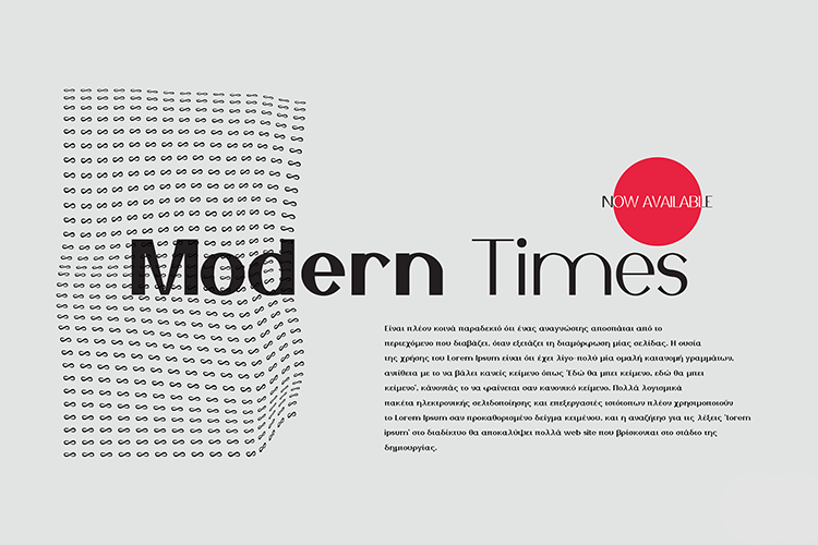 Modern Times Font Family example image 1