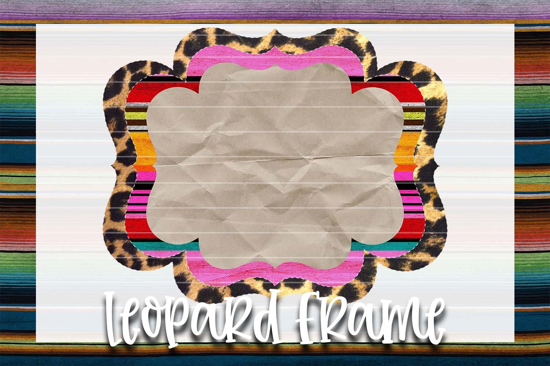 Serape & Leopard Frame Background Element example image 1