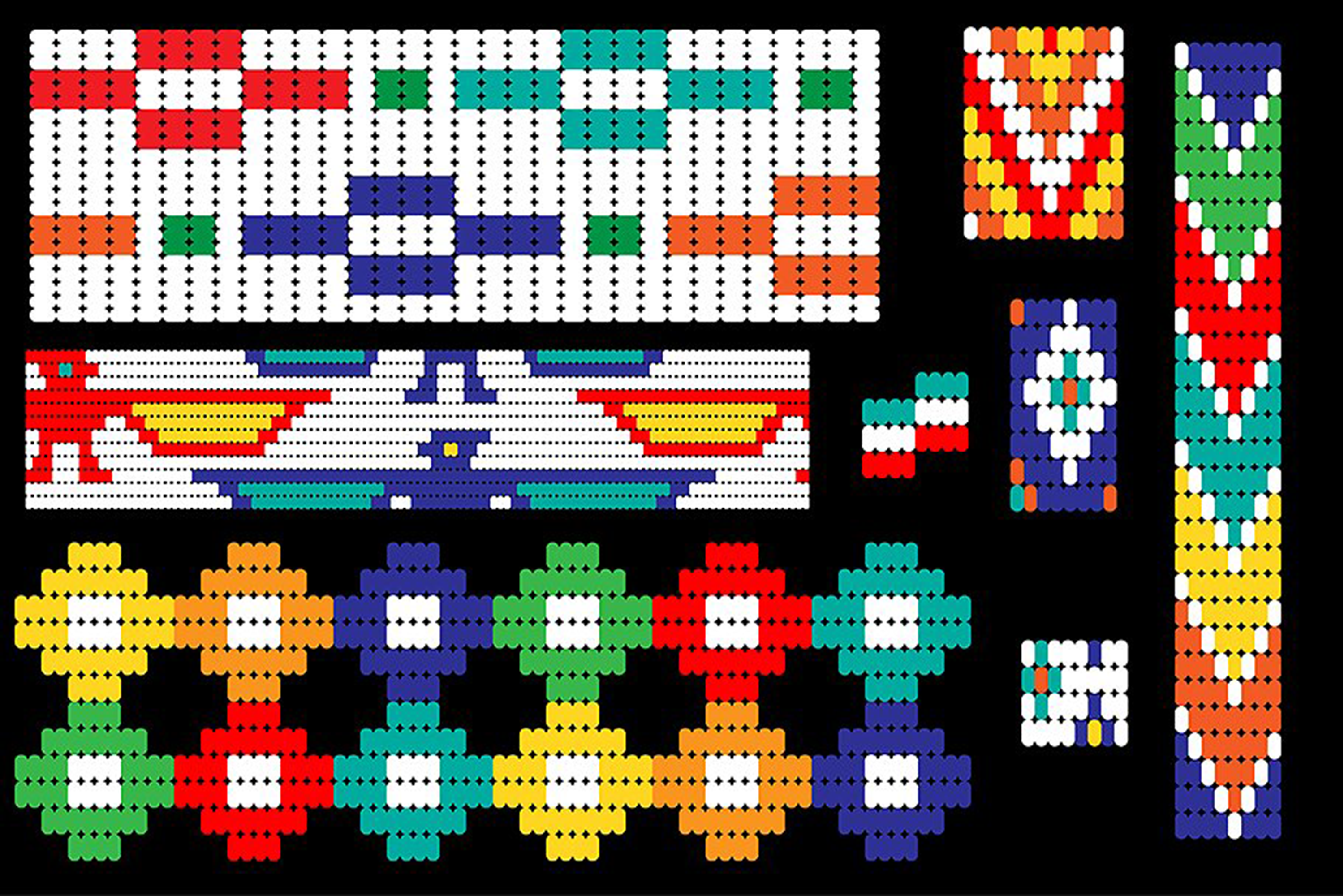 Seamless Tribal Bead Patterns example image 5
