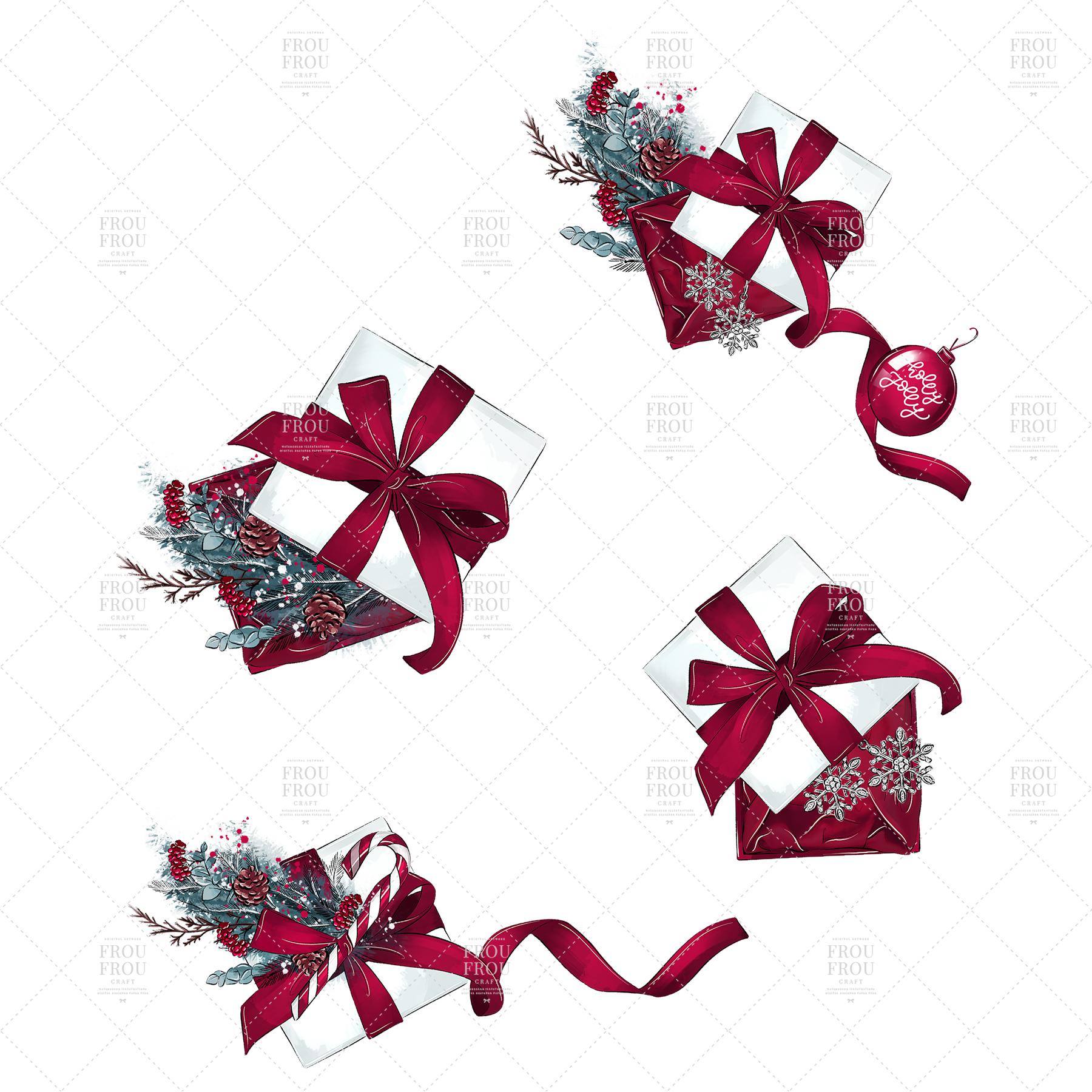 Christmas Tree Winter Present Gift Cozy Clip Art example image 5