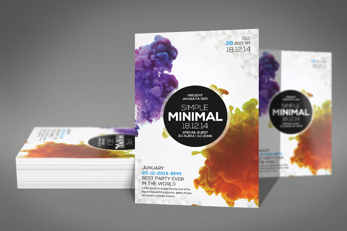 Simple minimal Flyer Template example image 2
