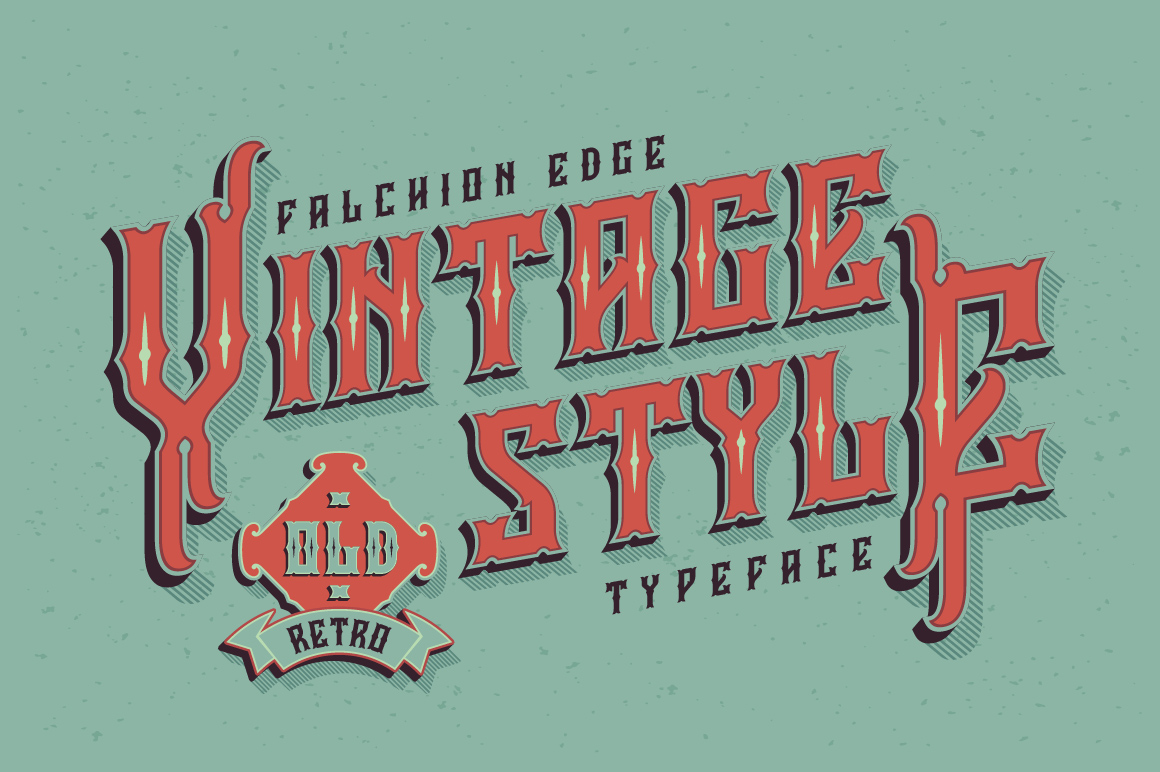 Falchion Edge font example image 2