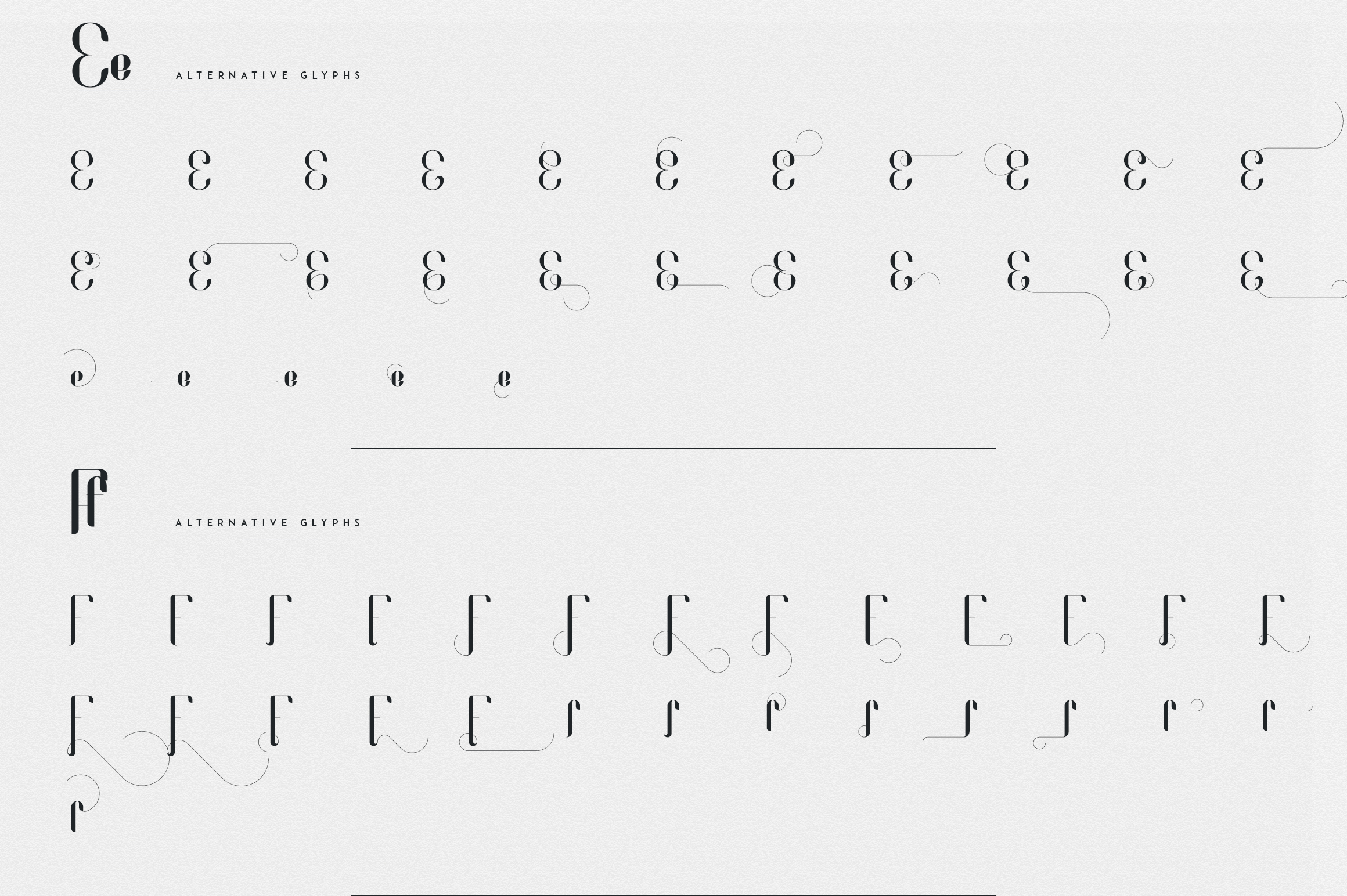 Fonatik Display font Extras example image 13