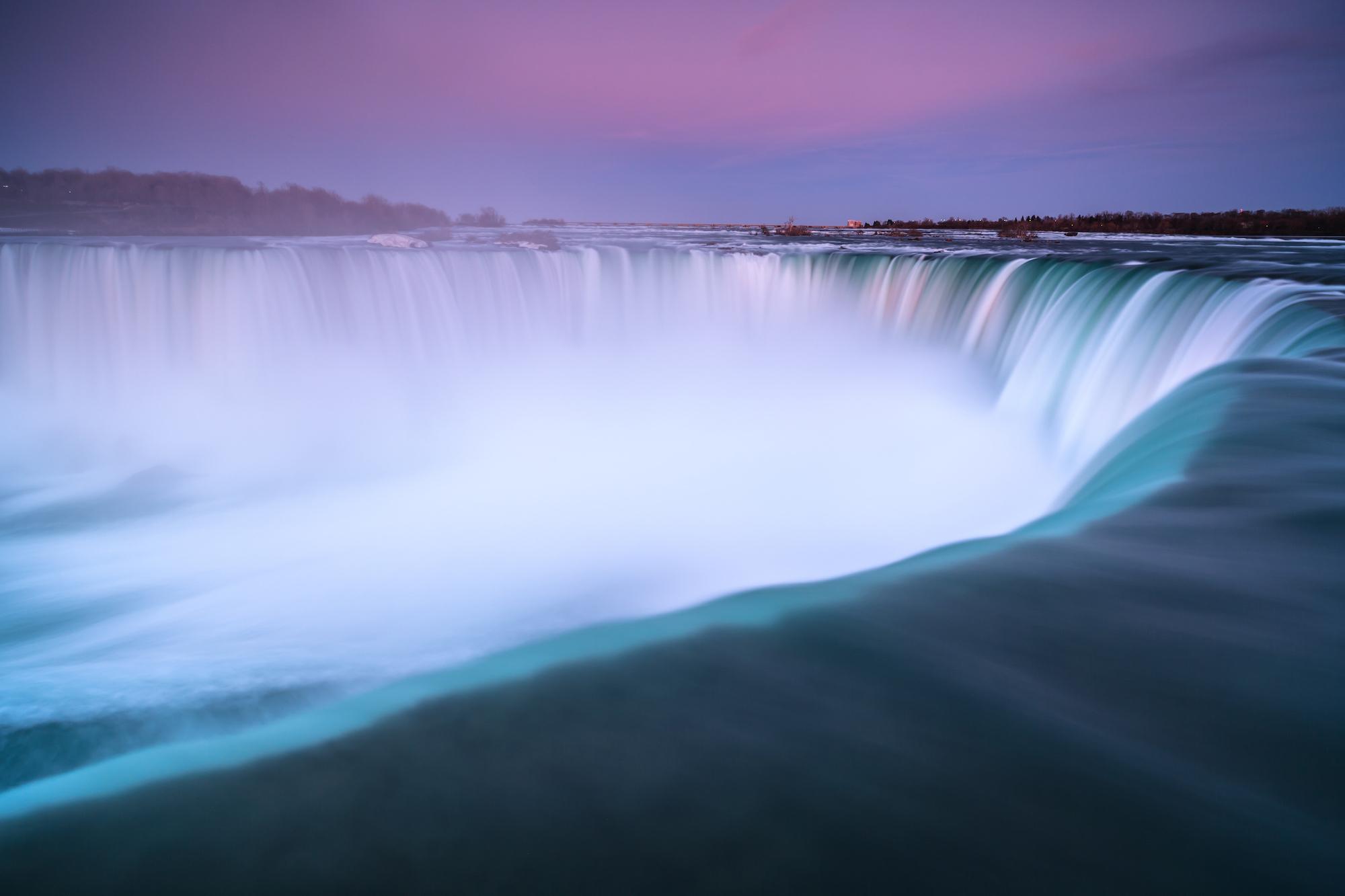 Niagara fall view during sunset example image 1