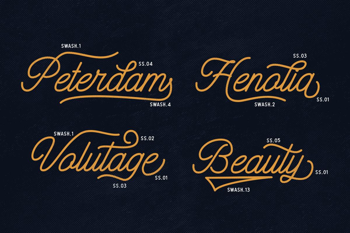 Hatterline Font + Sans example image 9