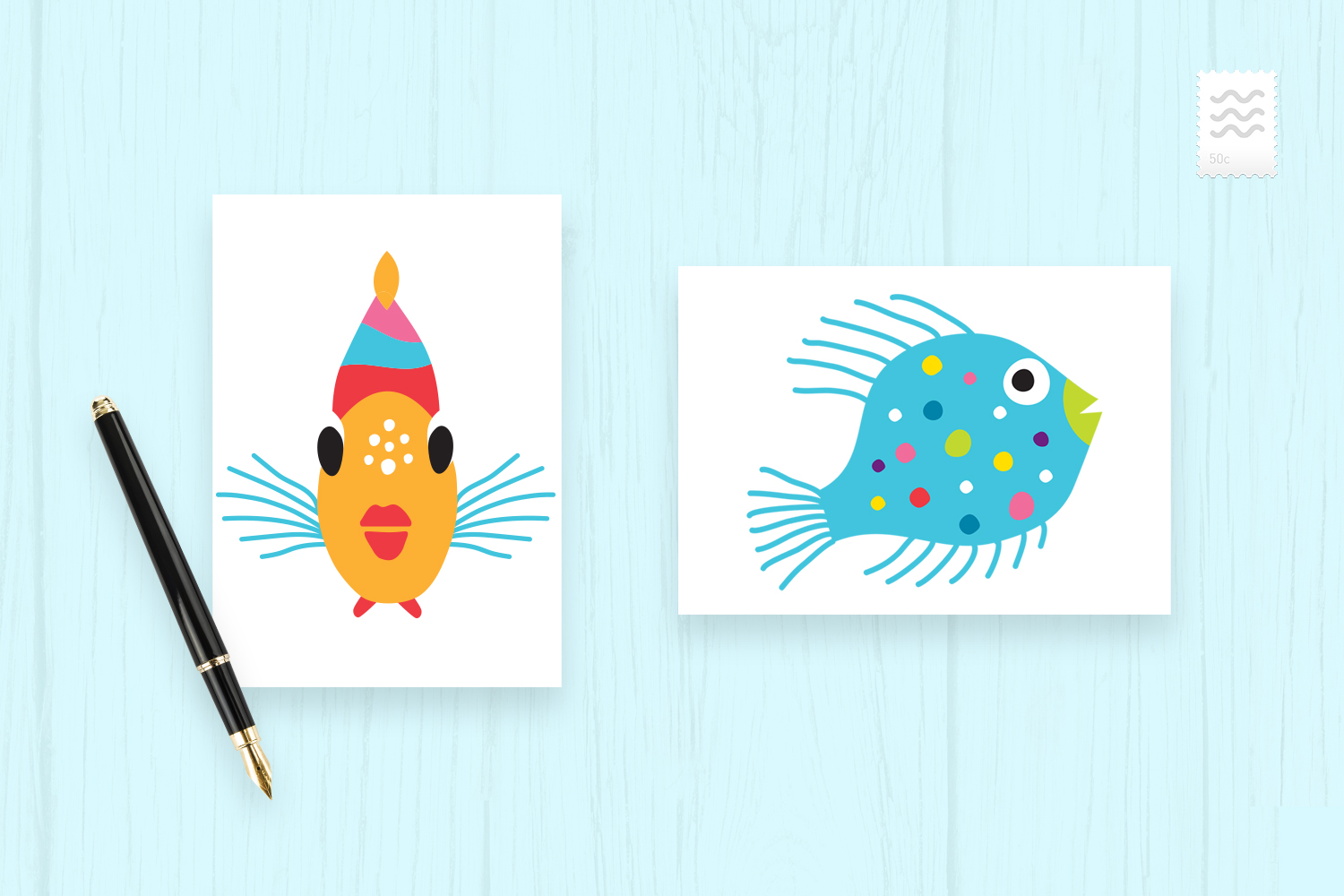 SeaLife Cuties Illustration Collection example image 5
