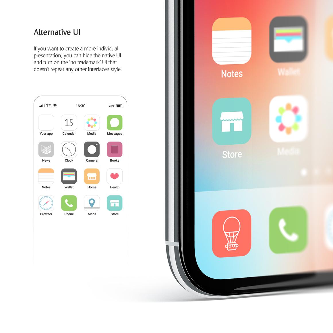 Phone App Mockups Set example image 5