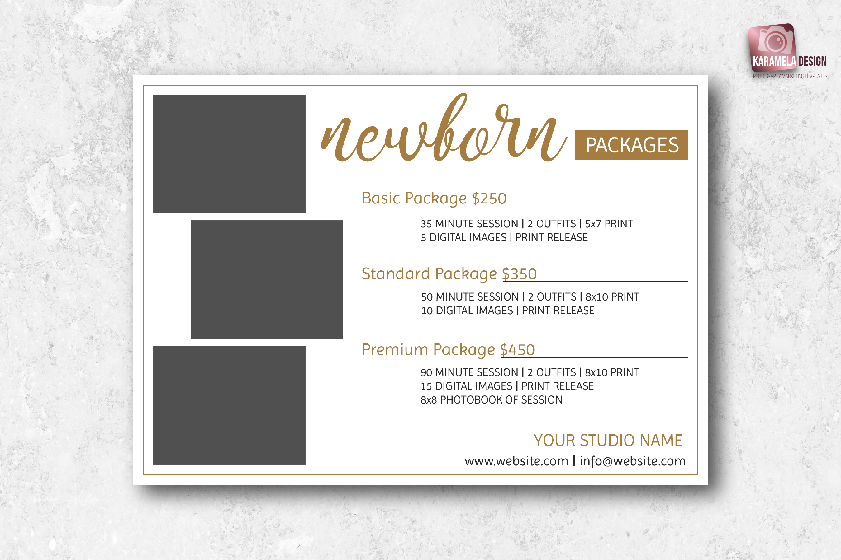 Newborn Photography Pricing Guide Template example image 3