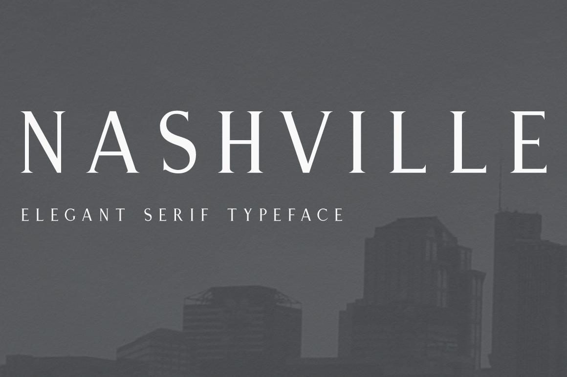 Nashville | Elegant Serif Typeface example image 1