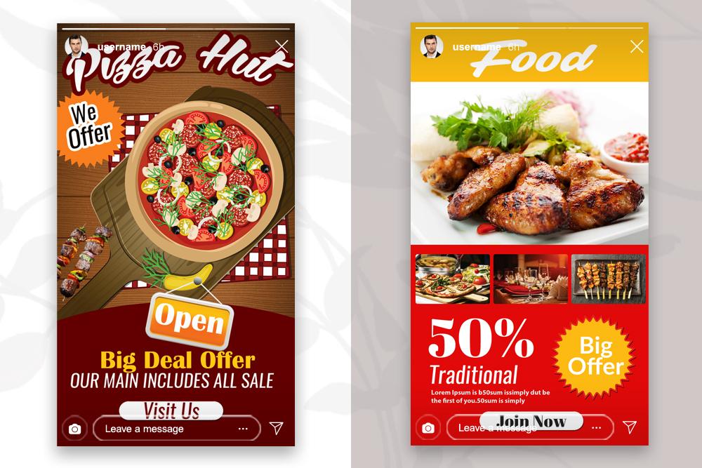 4 Instagram Stories - Food & Restaurant example image 3
